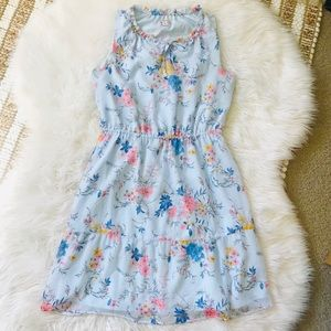 Merona Blue floral chiffon dress